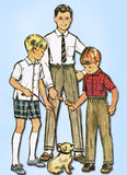1960s Vintage McCalls Sewing Pattern 7370 Boys Shirt Shorts & Slacks Size 6