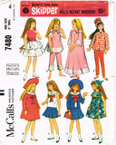 1960s Original Vintage McCalls Sewing Pattern 7480 9 In Skipper Doll Clothes Set