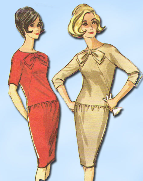 1960s Vintage McCalls Sewing Pattern 7494 Misses Mid Mod Dress Size 12 32 Bust