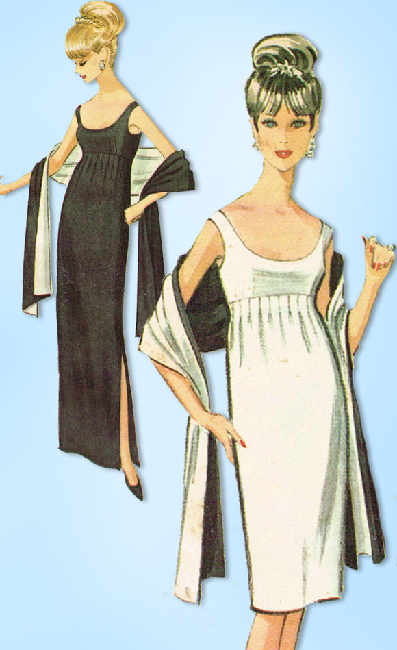 1960s McCalls Sewing Pattern 7521 Designer Pauline Trigere Cocktail Dress Sz 32B