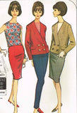 1960s Original Vintage McCalls Pattern 7615 Uncut Misses Suit Ensemble Sz 34 36B