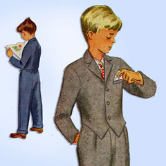 1940s Vintage McCall Sewing Pattern 7801 Uncut Toddler Boys Dress Suit Size 4