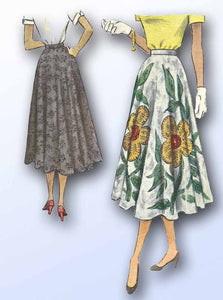 1950s Vintage Misses Day Skirt 1950 McCalls Sewing Pattern 7962 Size 24 Waist