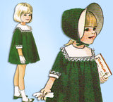 1960s Vintage McCall's Sewing Pattern 7992 Toddler Girls Helen Lee Dress Size 6x - Vintage4me2