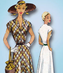 1950s Vintage McCalls Sewing Pattern 8118 Uncut Misses Bias Cut Dress Size 32 B