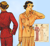 McCall 8214: 1930s Misses Lounging Pajamas Size 32 Bust Vintage Sewing Pattern