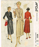 1950s Vintage Misses Dress 1950 McCall VTG Sewing Pattern 8237 Size 16