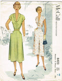 1950s Vintage McCall Sewing Pattern 8423 Plus Size Ladies Dress Size 40 Bust