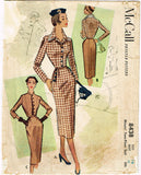 1950s Vintage McCalls Sewing Pattern 8438 Misses Tailored 2 Pc Suit Sz 32 B - Vintage4me2
