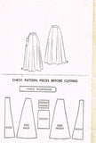 1950s Vintage McCalls Sewing Pattern 8494 Uncut Misses Skirt Size 24 Waist