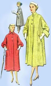 1950s Vintage Misses Swingback Coat 1951 McCalls Sewing Pattern 8549 Size 14