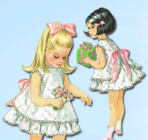McCall's 8551: 1960s Helen Lee Toddler Girls Dress Size 5 Vintage Sewing Pattern - Vintage4me2