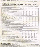 1950s Vintage McCalls Sewing Pattern 8588 Uncut Misses Weskit and Skirt Size 11
