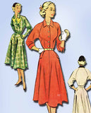 1950s Vintage McCalls Sewing Pattern 8608 Misses Dress w Raglan Sleeves Size 12 - Vintage4me2
