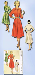 1950s Vintage McCalls Sewing Pattern 8608 Misses Dress w Raglan Sleeves Size 12