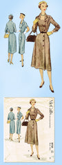 1950s Original Vintage McCall Pattern 8720 Uncut Misses Street Dress Sz 30 Bust