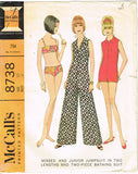 1960s Vintage McCall Sewing Pattern 8738 Misses Bathing Suit & Jumpsuit Sz 31 B - Vintage4me2