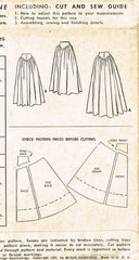 1950s Vintage McCalls Sewing Pattern 8738 Rare Floor Length Evening Skirt Sz 26W