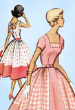 1950s Original Vintage McCalls Sewing Pattern 8789 Misses Sun Dress Size 30 Bust - Vintage4me2