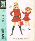 1960s Vintage McCall's Sewing Pattern 8864 Helen Lee Veruca Salt Girls Dress Sz6 -Vintage4me2