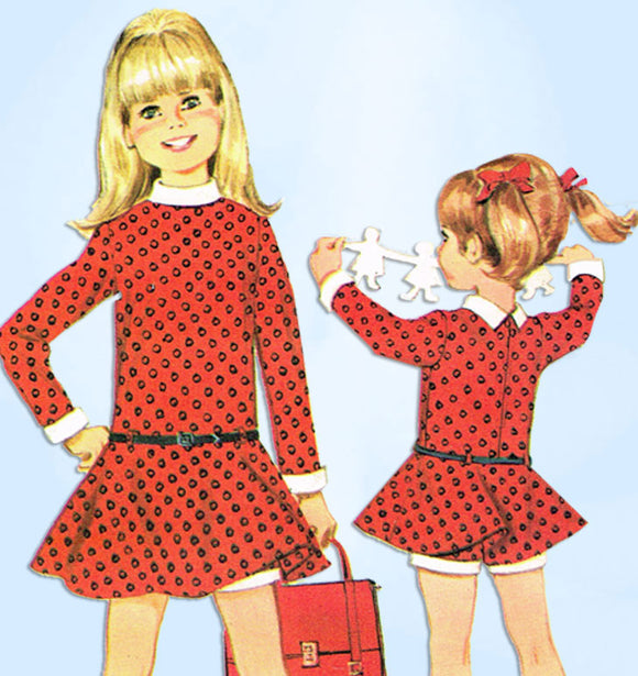 1960s Vintage McCall's Sewing Pattern 8864 Helen Lee Veruca Salt Girls Dress Sz5 - Vintage4me2