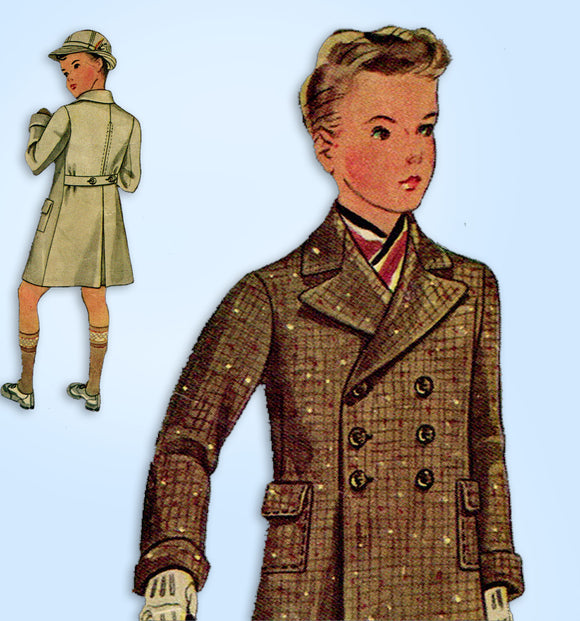 1930s Vintage McCall Sewing Pattern 8971 Cute Toddler Boys Coat and Hat Size 2