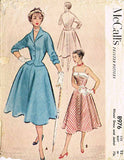 1950s Vintage Misses Sun Dress & Jacket 1952 McCall's 8976 Sewing Pattern Sz 12