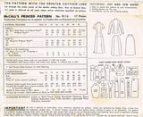 1950s Vintage McCalls Sewing Pattern 9115 Misses 2 Piece Suit Dress Size 14 32B
