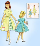 1950s Vintage McCalls Sewing Pattern 9175 Uncut Toddler Girls Party Dress Size 4