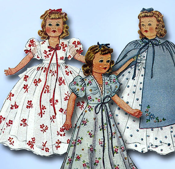 1940s Vintage McCall Sewing Pattern 918 Rare WWII 15 Inch Movie Doll Clothes