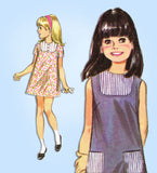 1960s Vintage McCall's Sewing Pattern 9186 Uncut Little Girls Boho Dress Size 10