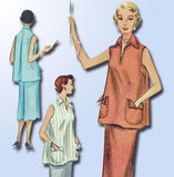 1950s Vintage McCalls Sewing Pattern 9382 Uncut Misses 2 Pc Maternity Dress Size 12 - Vintage4me2