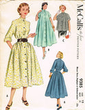 1950s Vintage McCalls Sewing Pattern 9385 Uncut Misses Flared Coat Size 12 30B