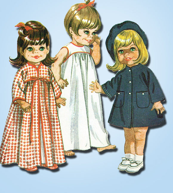 1960s Vintage McCalls Sewing Pattern 9449 17 to 18 Goody Two Shoes Doll Clothes