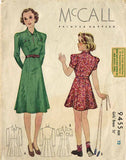 1930s Vintage McCall Sewing Pattern 9455 Stylish Junior Girls Dress Size 12 - Vintage4me2