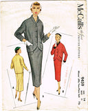 1950s Vintage McCalls Sewing Pattern 9459 Uncut Misses 2 Piece Suit Size 32 Bust