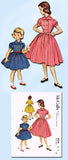 1950s Vintage Toddler Girls Dress 1953 McCalls VTG Sewing Pattern 9524 Size 6