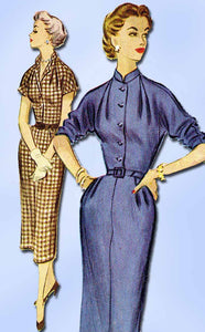1950s Vintage McCalls Sewing Pattern 9536 Misses Dress w Kimono Sleeves Size 14