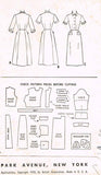 1950s Vintage McCalls Sewing Pattern 9639 Uncut Misses Shirtwaist Dress Size 12
