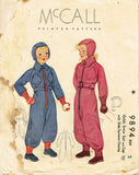 1930s Vintage McCall Sewing Pattern 9894 Toddlers Snow Suit and Cap - Vintage4me2