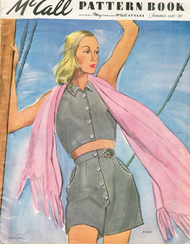 1940s Vintage McCall Pattern Book February Summer 1946 Pattern Catalog 80 Pages