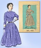 1950s Vintage Anne Adams Sewing Pattern 4881 Misses Street Dress Size 14 32 Bust