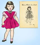 1940s Vintage Marian Martin Sewing Pattern 9119 Easy Toddler Girls Jumper Size 3
