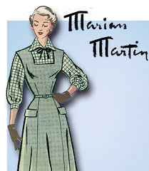 1940s Vintage Marian Martin Sewing Pattern 9142 Misses Jumper and Blouse Sz 36 B
