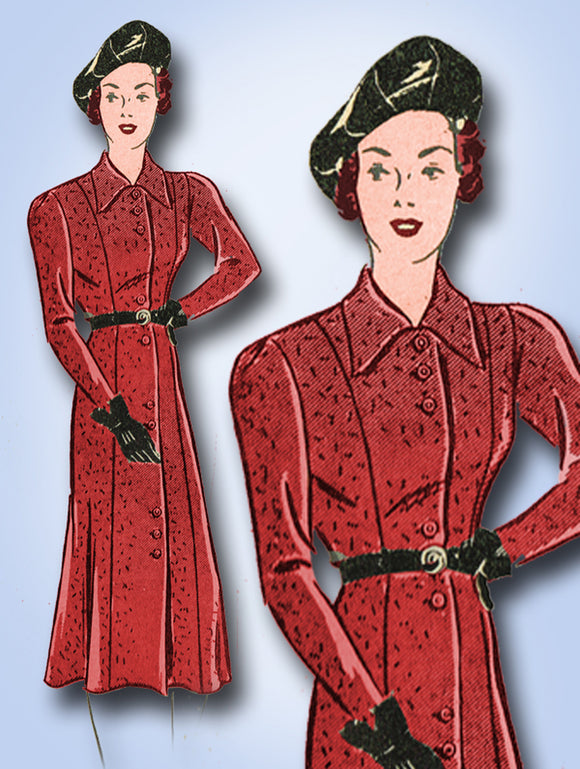 Marian Martin 9172: 1930s Misses Princess Dress Sz 34 Bust Vintage Sewing Pattern - Vintage4me2