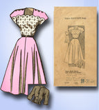 1940s Vintage Marian Martin Sewing Pattern 9179 Misses Scalloped Dress Sz 18 36B - Vintage4me2