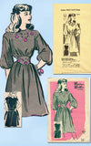 1940s Vintage Marian Martin Sewing Pattern 9210 Uncut Misses Heart Dress Size 14 - Vintage4me2