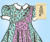 1940s Vintage Marian Martin Sewing Pattern 9296 Uncut Toddler Girls Dress Size 2