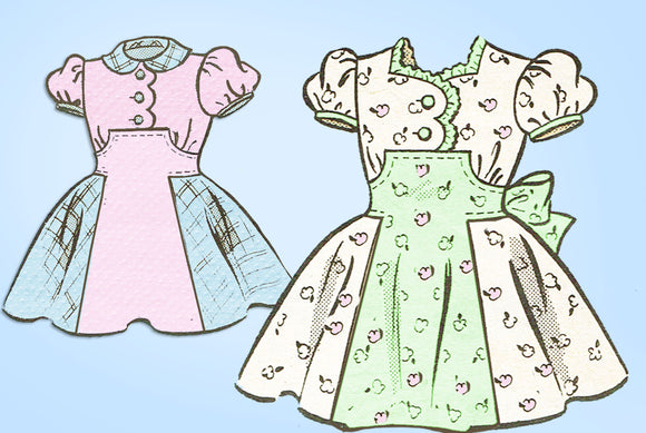 1950s Vintage Marian Martin Sewing Pattern 9315 Cute Toddler Girls Party Dress 4 - Vintage4me2