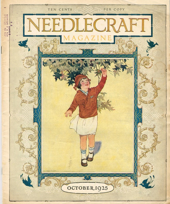 1920s Vintage Needlecraft Magazine October 1925 42 Pages Antique Craft Projects - Vintage4me2